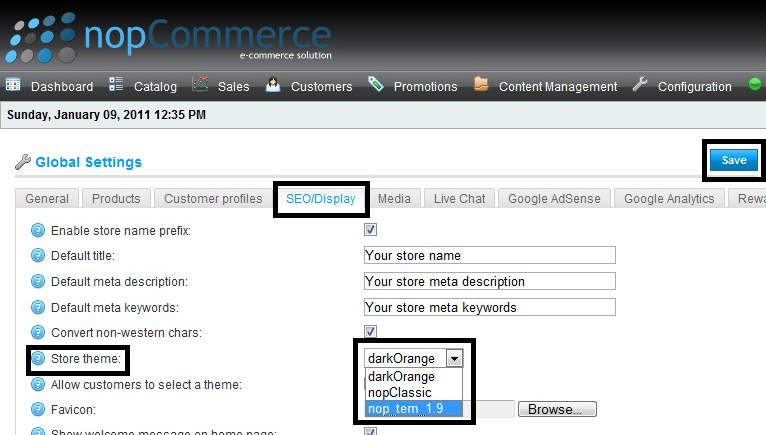 Nopcommerce all posts by admin for Nop commerce templates