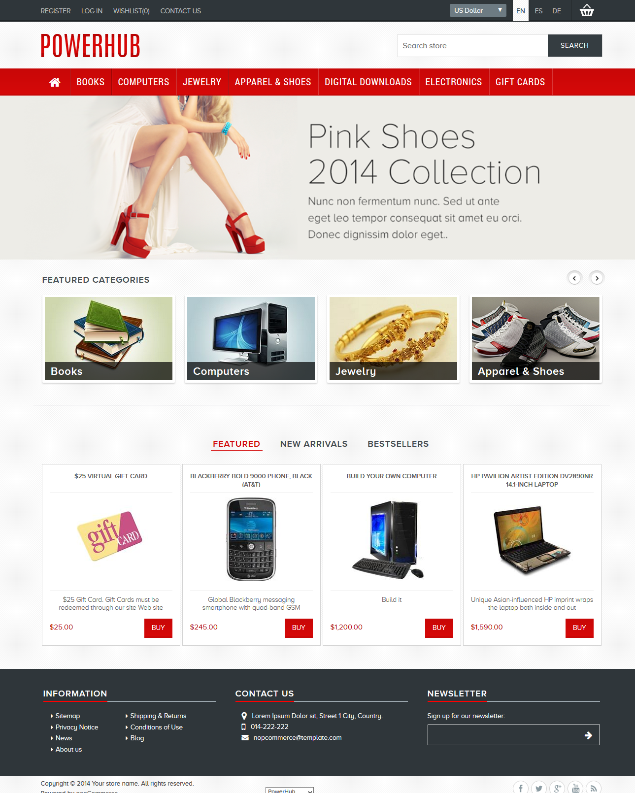 latest free nopcommerce templates - Free Templates